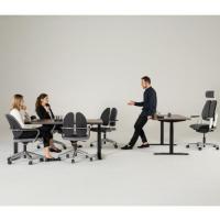 Diverse Schreibtischmodelle, Bürodrehstuhl Duo Back Xenium und Xillium