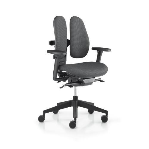 Bürodrehstuhl Modell db, gewichtseinstellbar Synchronmechanik, Sitztiefenverstellung mit Armlehnen