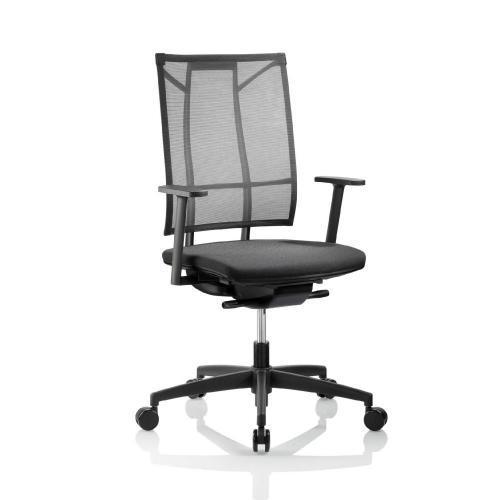 Bürodrehstuhl Modell Sa, Netzrücken mit Armlehnen, gewichtseinstellbar, Armlehnen