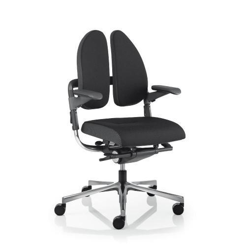 Bürodrehstuhl Modell Xe Db, gewichtseinstellbar Synchronmechanik, Sitztiefenverstellung mit Armlehnen