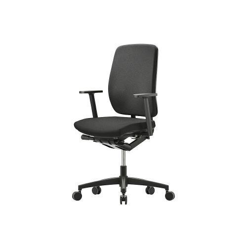 Bürostuhl Modell Gl, gewichtseinstellbare Synchronmechanik, Sitzneige und Sitztiefenverstellung, 2 D Armlehnen, Lordosenstütze
