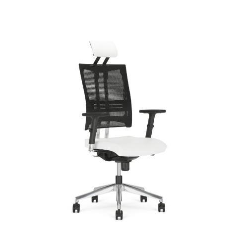 Bürostuhl Modell Netmk, Netzrücken. Kopfstütze, gewichtseinstellbar, Arnlehnen
