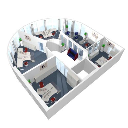 Div. Doppelarbeitsplätze, der Büroplaner