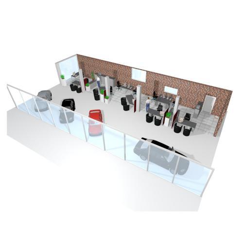 Beraterplätze im Autohaus, der Büroplaner