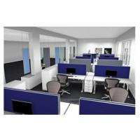 Callcentermöbel mit Akustikwänden