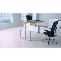 Elektromotorisch Höhenverstellbarer Schreibtisch Chefzimmer mit Andockung an eine Schrankwand
