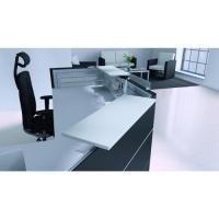 Empfangsmöbel schwarz weiß, Thekenablagen in weiß